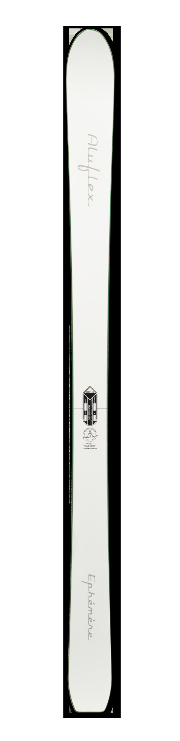 Ski Aluflex Éphémère blanc vert