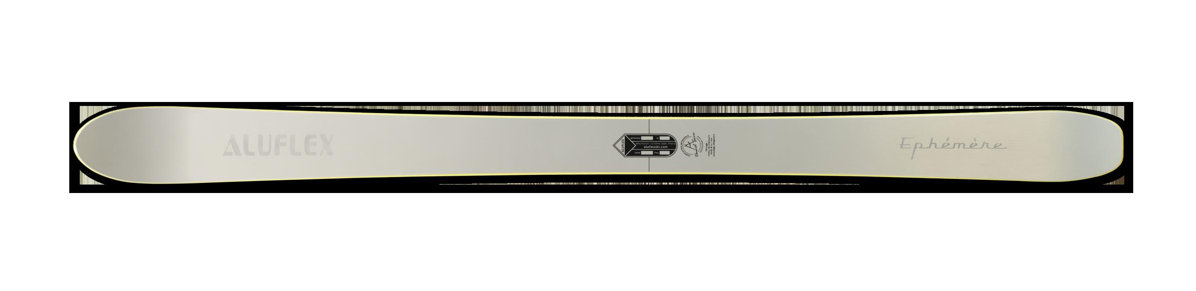 Ski Aluflex Éphémère jaune