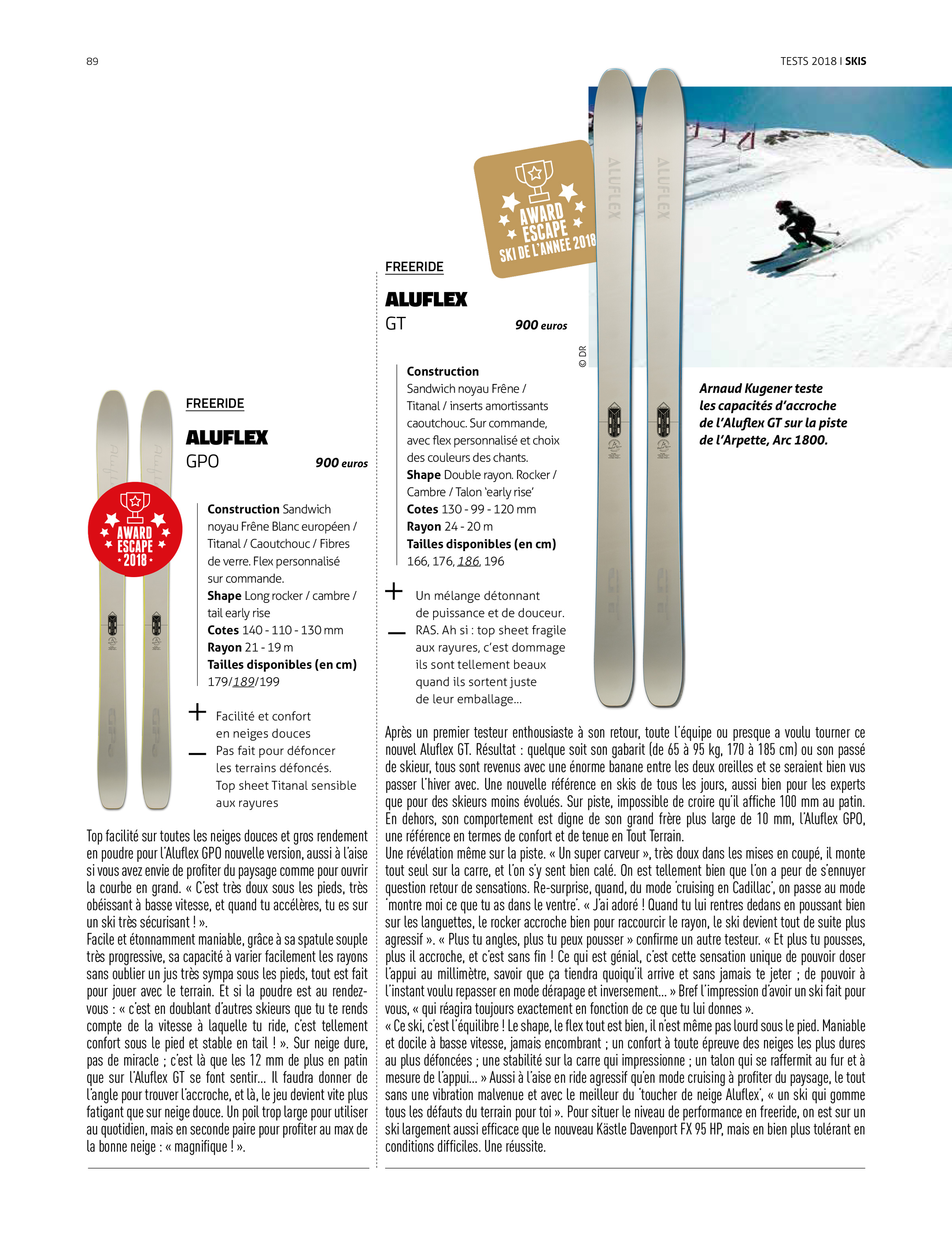 Aluflex Escape #66 Test Ski