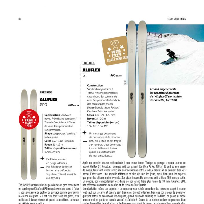 Aluflex Escape Test Ski